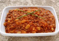 Ragoût de viande hachée aux haricots blancs