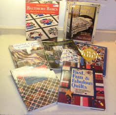 Quilt book lot-quilt book collection-quilting book-quilter book-baltimore album quilts-bed and breakfast quilts-scrap quilts-floral quilts by BECKSRELICS on Etsy