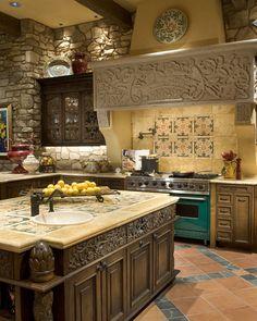 Tuscan inspired design - Kitchen - - IMI Design Studio