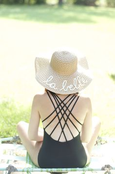 DIY  EMBROIDERED SUN HAT PART 1 Sombreros ae0ae37d9001