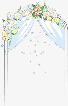 Cartoon wedding arch bridge, Wedding Arch Bridge, Cartoon Hand Painted, Decorative Elements PNG Image and Clipart Watercolor Drawing, Floral Watercolor, Cute Wallpapers, Wallpaper Backgrounds, Bride And Groom Cartoon, Wedding Invitation Background, Certificate Design Template, Wedding Illustration, Flower Phone Wallpaper