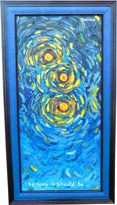 Starry, Starry Night Upclose. Oil on canvas. See more at www.ronquinn.com