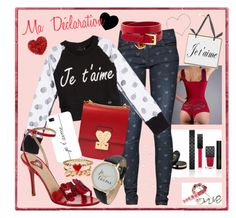 """""""Ma Déclaration d'Amour"""" by drinouchou ❤ liked on Polyvore featuring mode, Gucci, Great Plains, Aime, Valentino, Casetify, Ashley Stewart, Accessorize en Olivia Pratt"""