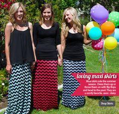 MAXI SKIRTS love the chevron skirts