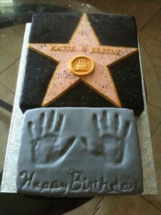 made this for a celebrity theme birthday party flecks on the star are edible glitter ... Hollywood Stars