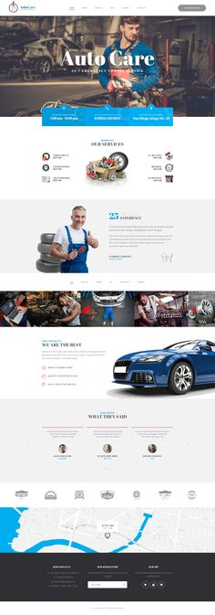 Auto Care is our new bright PSD template for auto services and repair stations. Nowadays automobile business is extremely popular and therefore, automobile repair and care is one of the most used services out there. And to successfully promote your auto-… Service Auto, Car Repair Service, Audi, Car Workshop, Web Design, Bmw Autos, Car Interior Decor, Interior Design, Important Things In Life