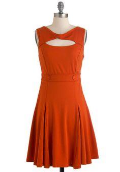 Pumpkin Up the Jam Dress, #ModCloth