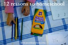 12 Reasons To Homeschool. Very valid points to consider!