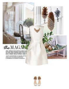 """""""Christmas in Australia"""" by lagyare ❤ liked on Polyvore featuring Wildfox, Rochas, Kate Spade, Zara, WhiteOnWhite, rochas, holidaystyle and whiteandsilver"""