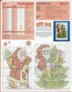 Free Christmas Cross Stitch Patterns | Punto cruz... Ponto cruz... Point de croix... Punto Croce... Cross ...