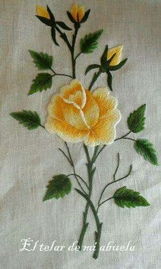 Grand Sewing Embroidery Designs At Home Ideas. Beauteous Finished Sewing Embroidery Designs At Home Ideas. Floral Embroidery Patterns, Embroidery Flowers Pattern, Hand Embroidery Stitches, Silk Ribbon Embroidery, Crewel Embroidery, Hand Embroidery Designs, Embroidery Techniques, Cross Stitch Embroidery, Broderie Bargello