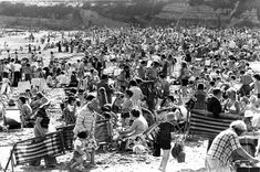 And a scene from Whitmore Bay beach, Barry Island, in July 1977