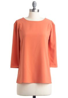 Freedom of Peach Top, #ModCloth