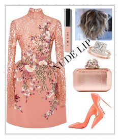 """""""Untitled #1223"""" by aagyekumwaa ❤ liked on Polyvore featuring beauty, Georges Hobeika, Christian Louboutin, Bobbi Brown Cosmetics, Jimmy Choo and Allurez"""