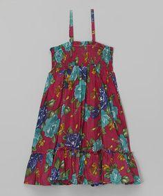 Look what I found on #zulily! Fuchsia Floral Convertible Dress - Toddler & Girls #zulilyfinds