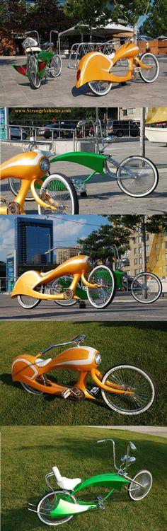 2 STRANGE CUSTOM MADE RETRO BICYCLES