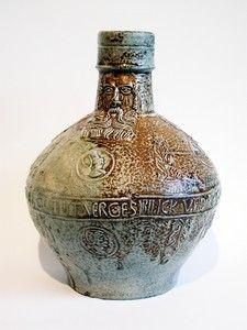 A very rare antique Cologne bellarmine Bartmann stoneware jug stein ........