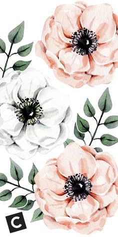 Floral lock screen