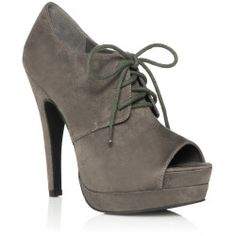 Justfab Booties Lourdes Womens Gray Size 11