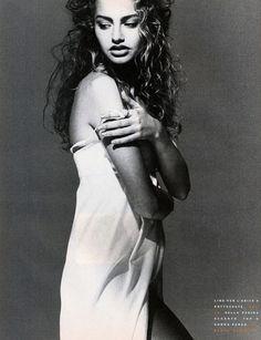 Vogue Italy Editorial April 1990 - Michaela Bercu by Marco Glaviano