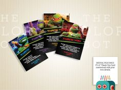 Teenage Mutant Ninja Turtles Thank You Cards Set of by TheColorBot, $6.50