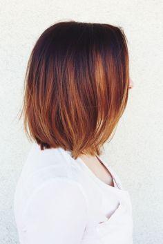 copper color melt #balayage #colormelt #ombre #olaplex