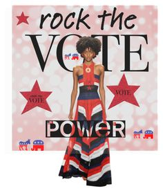 """""""#rockthevote For Real"""" by janetvera on Polyvore featuring art"""