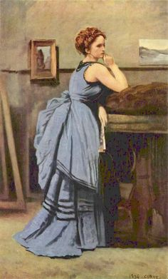 Edward Hopper — artist-corot:   The Woman in Blue, 1874, Camille...