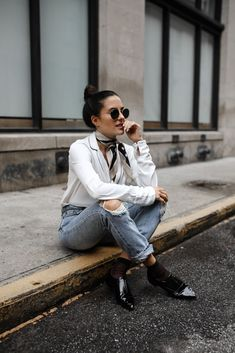 Atlanta style: distressed denim