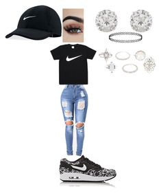 """""""NIKE"""" by queennicki1019 on Polyvore featuring NIKE, Accessorize and Charlotte Russe"""