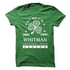 WHITMAN ! KISS ME - #shirt dress #sweatshirt fashion. ORDER NOW => https://www.sunfrog.com/Names/WHITMAN-KISS-ME.html?68278