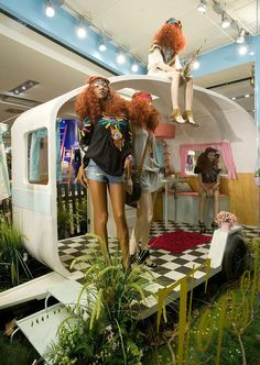 "TOPSHOP,London,UK, ""GLAMPING"", (Luxury Camping Experience), by Elemental Design, pinned by Ton van der Veer"