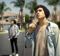 http://my.w.tt/UiNb/uvdSFpY1Vz  Guy's that wear beanies  Denim jackets  Live in Palm Springs  White shoes
