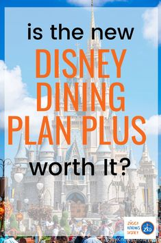 There's a new Disney Dining Plan in town, Disney Dining Plan Plus. It adds a few choices that could save you money while planning your Disney World trip. Is it worth it? We help you crunch the numbers and see if it's worth the add on for your group. Disney World Secrets, Disney World Food, Disney World Restaurants, Disney World Tips And Tricks, Disney Tips, Walt Disney World, Disney Worlds, Disney Parks, Disney Dining Tips