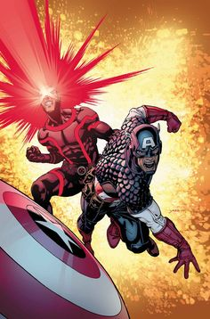 A+X #13 • A+X= something altogether different starting this month! • Half of this issue kicks off a 6-part story by GERRY DUGGAN (DEADPOOL) and DAVID YARDIN (ASTONISHING X-MEN, Injustice: Gods Among Us) bringing A and X to a collision course with Captain America and Cyclops running in A+X #13-18! • The other half of the issue sees industry legend HOWARD CHAYKIN writing and drawing the sexiest story in A+X history with Emma Frost and Black Widow!  32 PGS./Rated T …$3.99