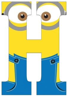 Typography - Minion Alphabet - Letter H