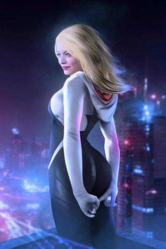 Drawing Marvel Comics Emma Stone as Spider Gwen! Marvel Women, Marvel Girls, Marvel Art, Marvel Heroes, Thor Marvel, Marvel Spider Gwen, Spider Gwen Cosplay, Spider Girl, Spider Women