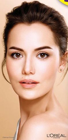 This is the woman Seyit married in Kurt Seyit ve Sura.  Fahriye Evcen is Murvet Eminof, a Turkish woman as his Father wished, in Kurt Seyit ve Sura She now represents Loreal Paris .#loreal - 2017.