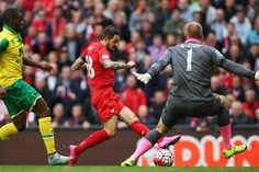 Danny Ings scores  Liverpool 1 Norwich City 1 The last time they were in the Barclays Premier League it was Liverpool, arguably more than any other opponent, who highlighted the weaknesses that condemned Norwich City to a year in the Sky Bet Championship. On their return to Anfield, they discovered that they no longer have anything to fear from Brendan Rodgers's side. Liverpool's rapid descent from title challengers to also-rans has another yardstick, one that leaves their manager facing the…