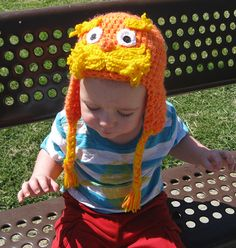 http://www.facebook.com/pages/Spoiled-Rotten-Cotton-Boutique/132728380133473,  The Lorax Crochet Hat, The Lorax, The Lorax Hat, Dr. Seuss Hat, Dr. Seuss Crochet