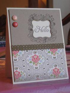 """** """"Hello"""" Handmade Card       @mammacharles"""