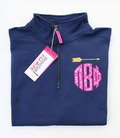Pi Beta Phi 1/4 Zip Sorority Circle Monogram Sweatshirt