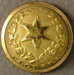 "Florida button, state seal ""Cherokee rose"", officer staff, E Halfmann, (22.3mm)"