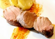 Solomillo de cerdo a baja temperatura Sous Vide, Italian Recipes, Tapas, Crockpot, Slow Cooker, Steak, Recipies, Pork, Beef