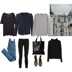 Week wardrobe by trenchcoatandcoffee on Polyvore featuring jucca, Saint James, Acne Studios, Isabel Marant, Frame Denim and Surface To Air