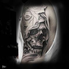 Tatuaggeria - I migliori tatuaggi | Portfolio creazioni  #skull #tatuaggeria