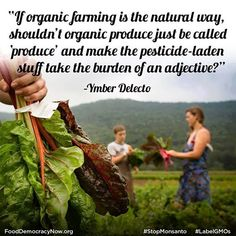 Agree or disagree? #OrganicFood #Food #Natural #Nature #Farmers #Sustainability Food Democracy Now! www.fooddemocracynow.org