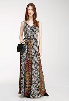 Mixed Print Maxi Dress | FOREVER21 - 2000078917