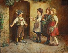 """What's the Password?"" -- by Edmund Adler (1876 – 1965, Austrian)"