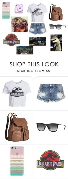 """jurassic park"" by infinaity ❤ liked on Polyvore featuring New Look, OneTeaspoon, H&M, Ray-Ban, Polaroid and Casetify"